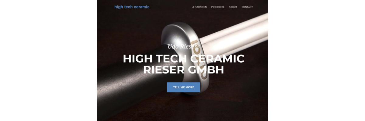 """Umfirmierung zu """"High Tech Ceramic Rieser GmbH"""" - Umfirmierung nach High Tech Ceramic Rieser GmbH"""