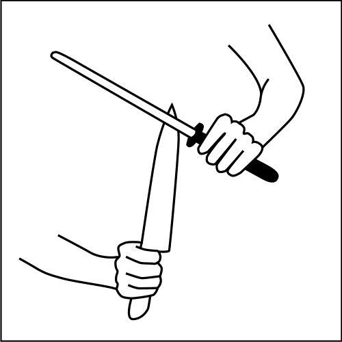 Messer schleifen mit Wetzstab